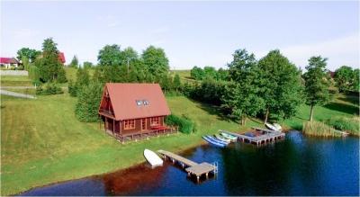 Domki nad jeziorem z sauną Białogóry