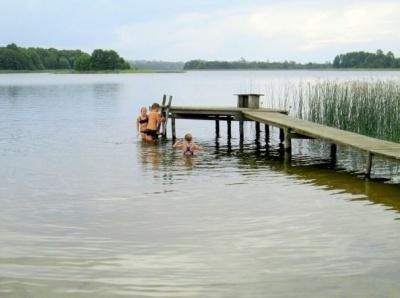 Park Linowy Galadusys nad jeziorem Gaładuś